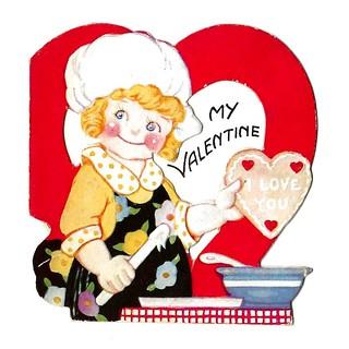 Vintage Child's Valentine Card - My Valentine, Made In USA, Circa 1940s