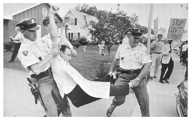 Arrested for protesting Bowie refusal to sell homes to blacks: 1963