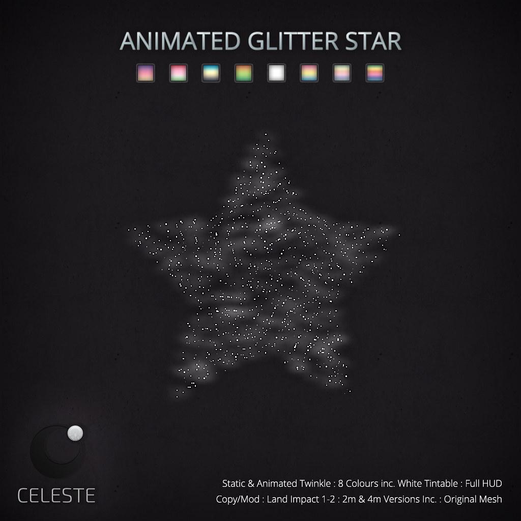 CELESTE – Animated Glitter Star