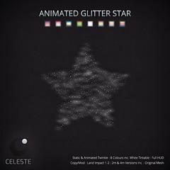 CELESTE - Animated Glitter Star