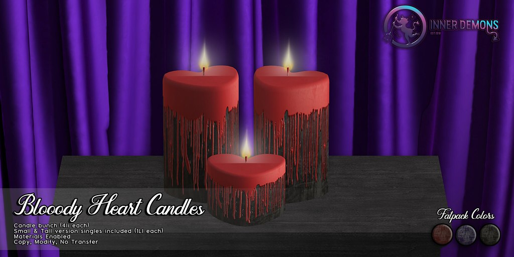 {ID} Bloody Hearts Candles Fatpack
