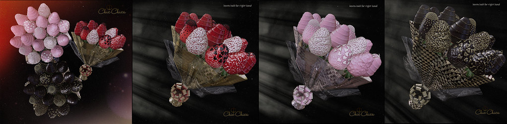 Strawberry bouquets by ChicChica @ Anthem