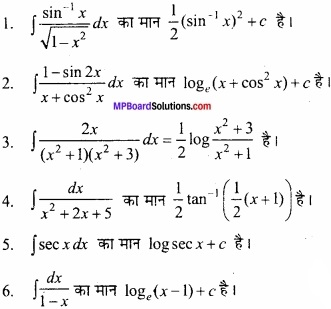 MP Board Class 12th Maths Important Questions Chapter 7 समाकलन img 2