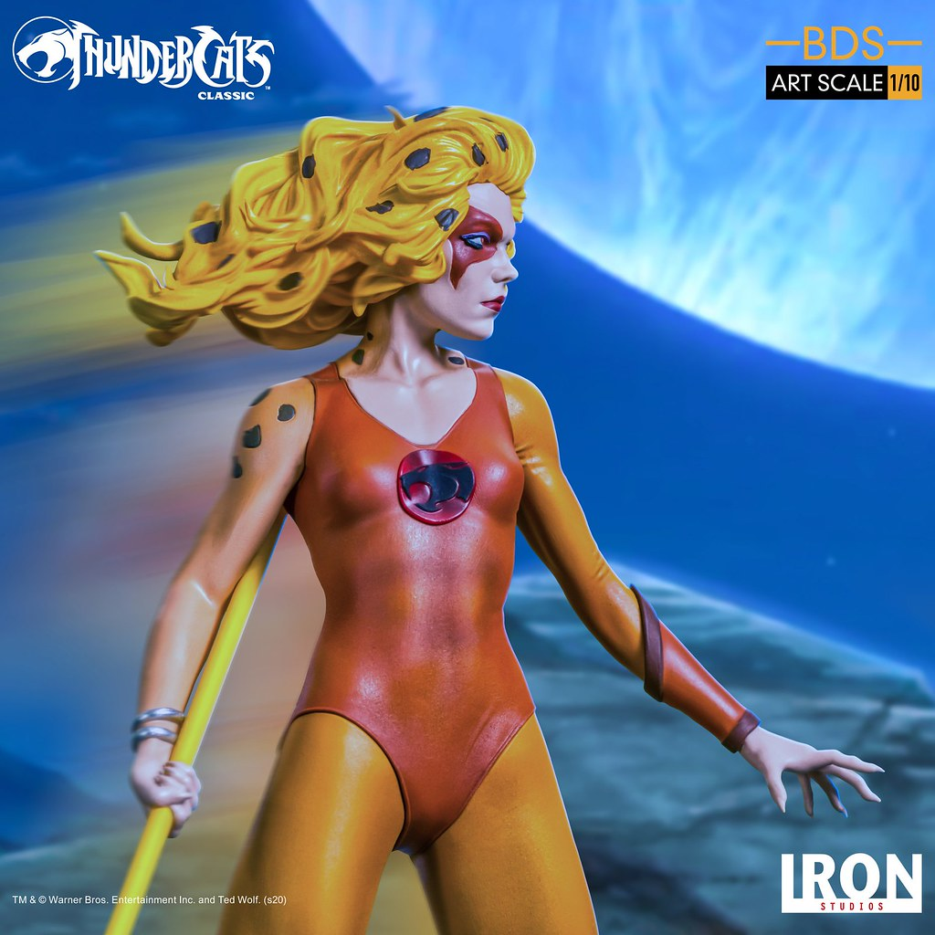 快動作的豹貓! Iron Studios Battle Diorama 系列《霹靂貓》豹貓 Cheetara 1/10 比例全身雕像