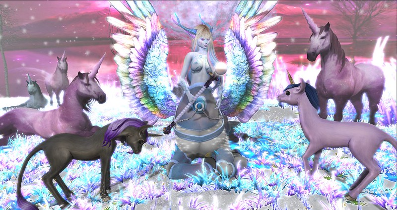 So then my Father, who was a handsome centaur, met and fell in love with my Mother, who was a beautiful pegasus...and it all happened at the very first Fantasy Faire, many years ago!