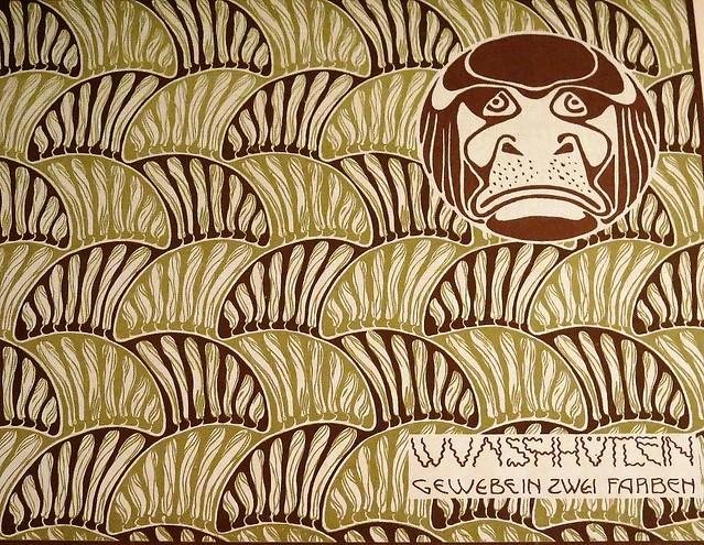 Secession / Art Nouveau wall paper