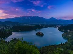 Atardecer en el lago Bled. Eslovenia.