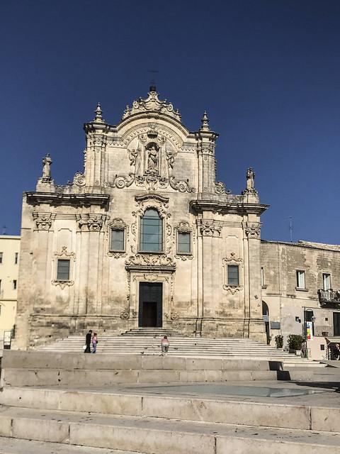 Matera : Chiesa di S.Francesco d'Assisi ,facciata  Barocca  del XVII secolo
