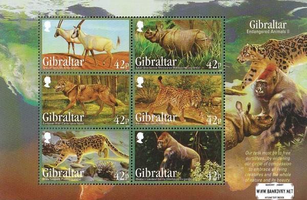 Známky Gibraltar 2012 Ohrozené zvieratá