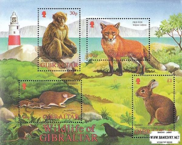 Známky Gibraltar 2002 Divoké zvieratá