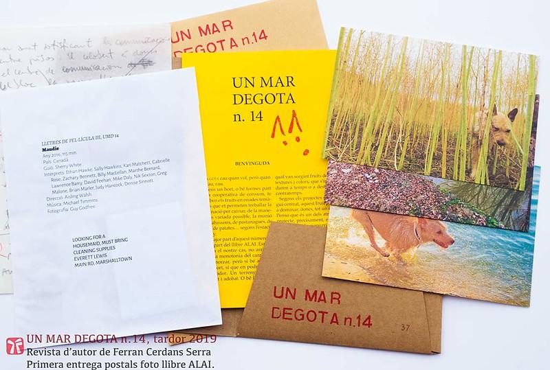 Un mar degota n. 14, tardor 2019. Revista d'autor de Ferran Cerdans Serra.