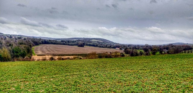 Darent Valley from above Eynsford looking South