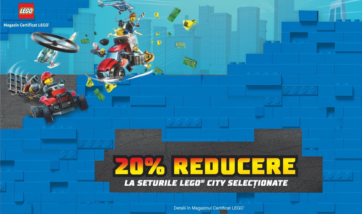 20% reducere la o selectie de seturi LEGO® City