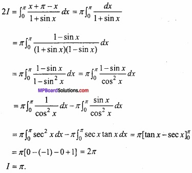 MP Board Class 12th Maths Important Questions Chapter 7B निशिचत समाकलन img 24