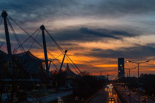 achrainerjutta fe24–70mmf28gm münchen olympiapark sonyalpha7riii olympiastadion georgbrauchlering sonnenuntergang sunset