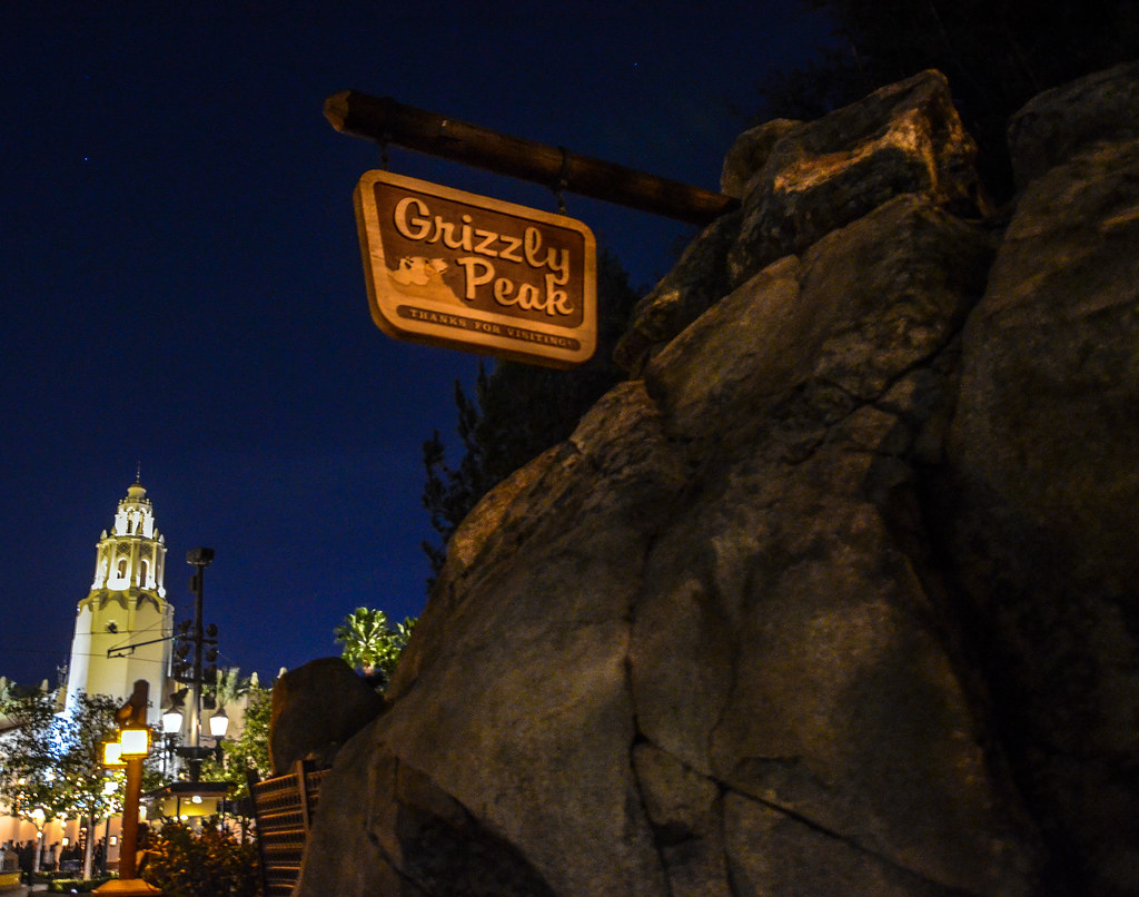 Grizzly Peak Carthay night DCA