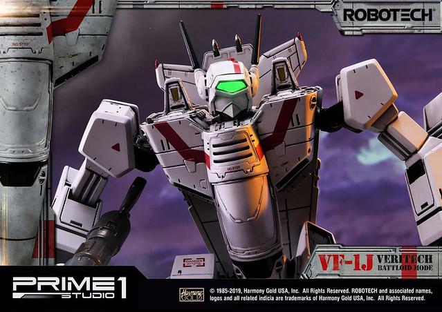 還記得那愛的歌聲嗎?Prime 1 Studio《超時空要塞》Premium Masterline 女武神 VF-1J 小隊長機 戰鬥人形型態雕像(VF-1J Officer's Veritech Battloid Mode)