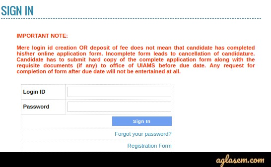 PU UIAMS MET 2020 Application Form
