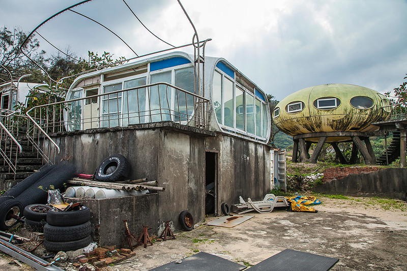 Abandonded UFO house village in Taiwan
