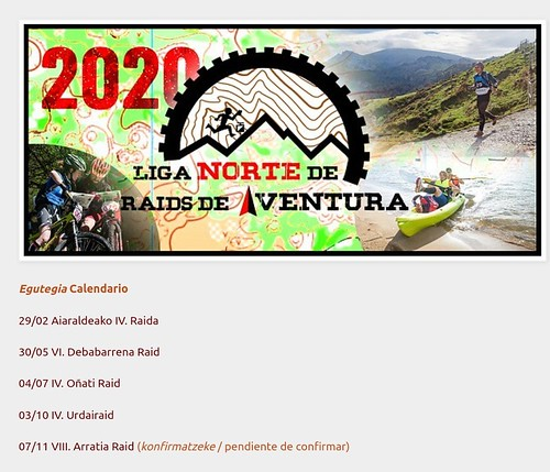 calendario 2020 de la LINRA