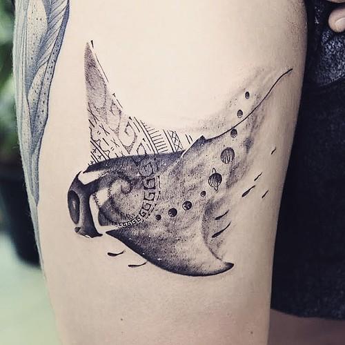 manta ray tattoo chiangmai