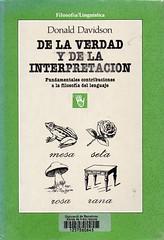 Donald Davidson, De la verdad y de la interpretación