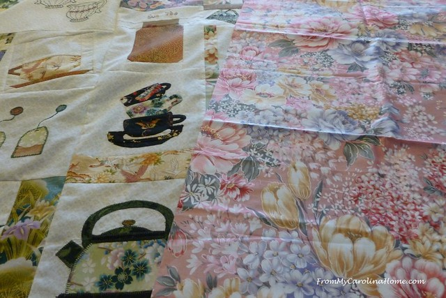 Finishing the Teacups Quilt Along at FromMyCarolinaHome.com