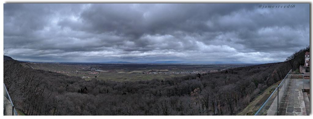 Plaine d'Alsace depuis NOTRE-DAME DU SCHAUENBERG