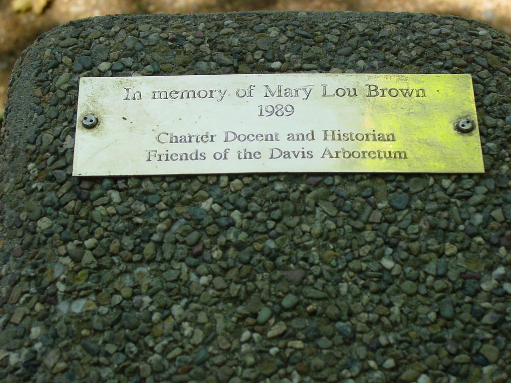 Mary Lou Brown memorial