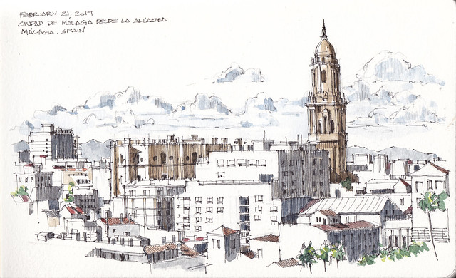 Malaga from Alcazaba