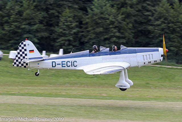 D-ECIC - 1941 build Klemm 35D-160, arriving at Hahnweide during OTT19