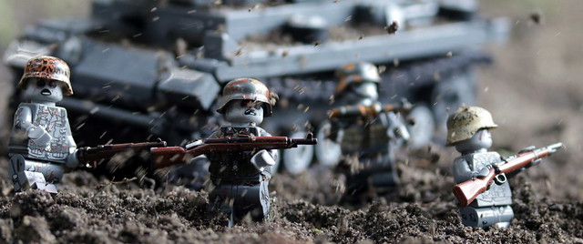 German Zombie Army in the trenches