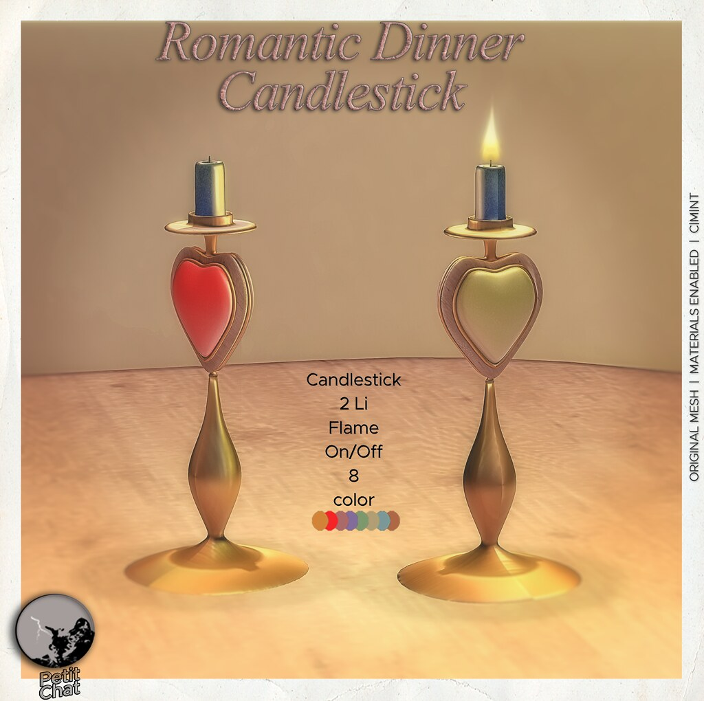 An addition to the Romantic Set : Exclusive gift for SL Shop & Hop Valentine's Event