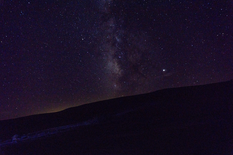 Milky Way at Borax Works in Death Valley National Park, Calif., July 2019