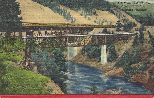 milwaukeeroad montana scenic us10 clarkfork postcard