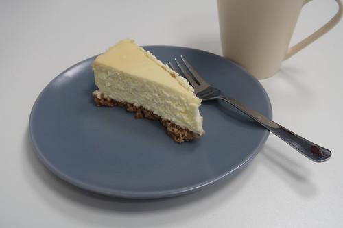 New York Cheesecake mit Caramel Topping (Stück in meinem Büro)