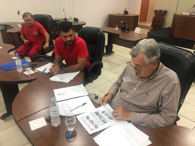 03/02/2020 Reunião com bombeiros voluntários - Candelária