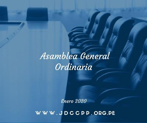 Asamblea General Ordinaria - Enero 2020