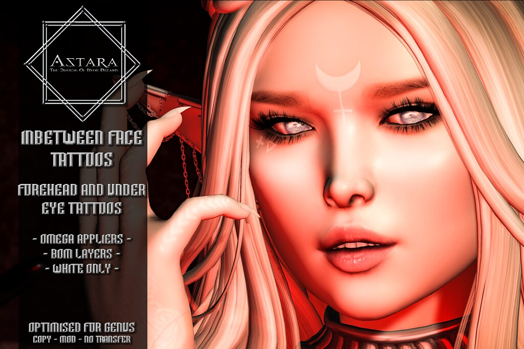 Astara - Inbetween Face Tattoos
