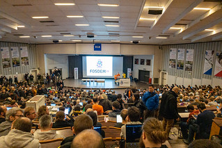 FOSDEM welcome in Janson