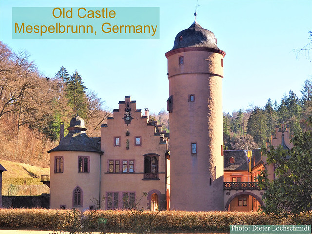 Old Castle (Schloss) Mespelbrunn, Germany, in the Spessart Hills - about 600 years old!