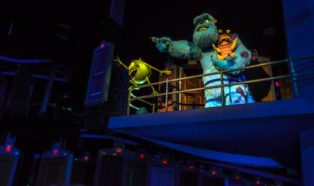 Mike & Sully to the Rescue Monsters Inc door room DCA