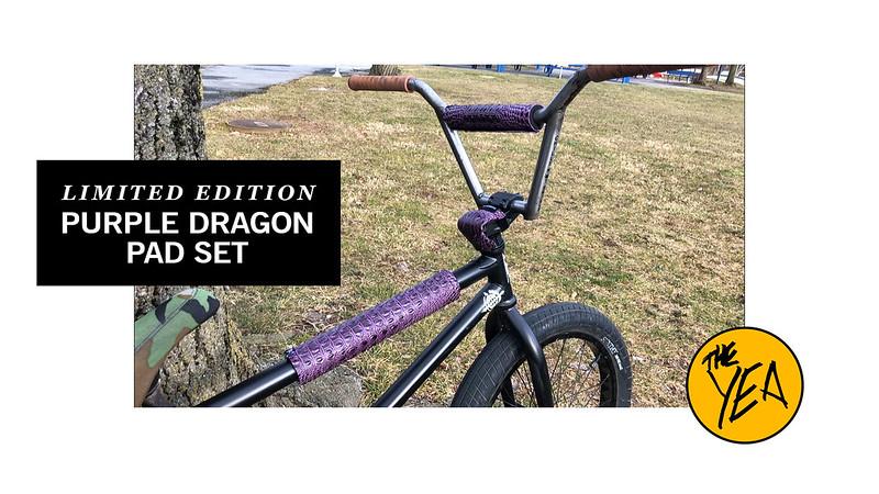 The Yea BMX Purple Dragon Pad Set