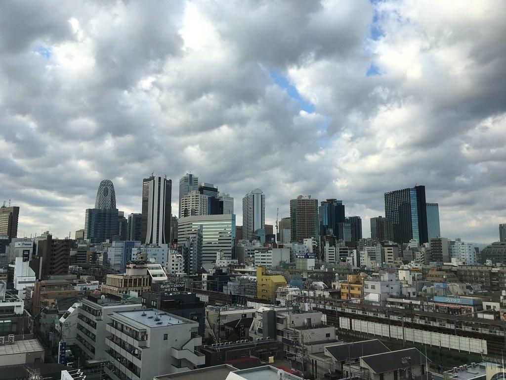 ナインアワーズ北新宿からの眺め
