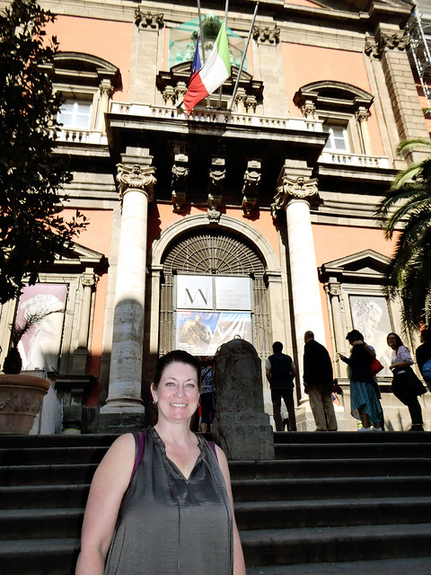 Italy 2019, Naples Napoli, Naples National Archaeological Museum excited to enter
