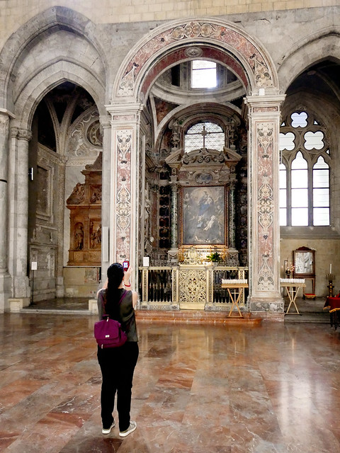 Italy 2019, Naples Napoli, Basilica of San Paolo Maggiore, shooting the artistic inside