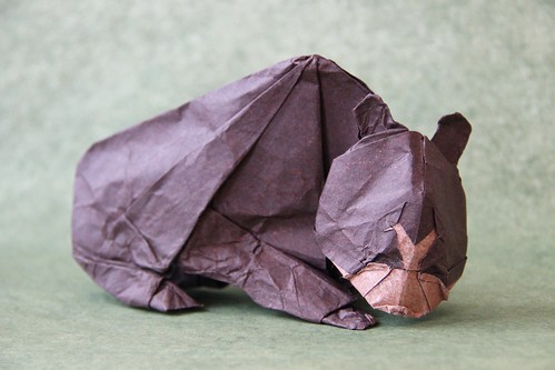 Origami Spectacled Bear