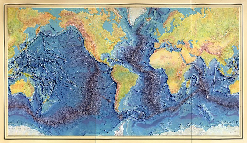 Map of Marie Tharp & Bruce Heezen (1977)
