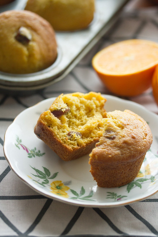 Orange-Date Muffin on a Plate