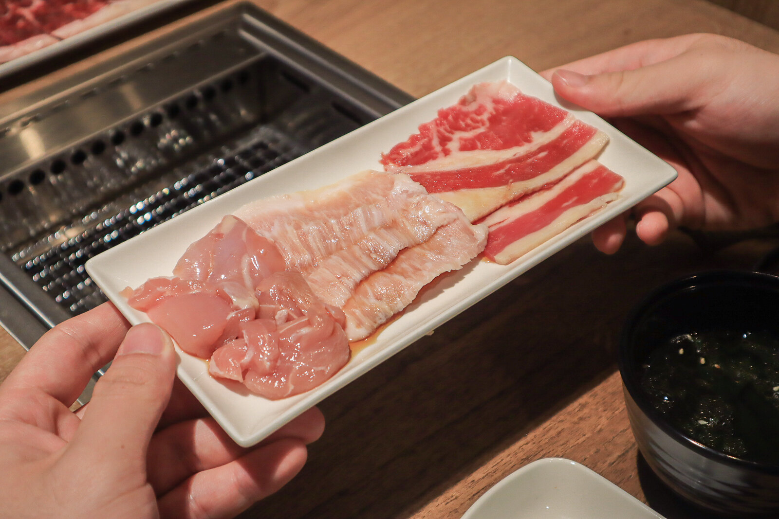 yakiniku like trio set meat